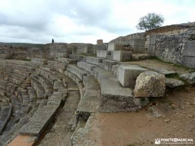 Parque Arqueológico Segóbriga-Monasterio Uclés;marchas de semana santa haciendo huella autobus ma